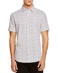 Sovereign Code Miguel Geo Short Sleeve Button Down Shirt White