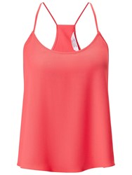 Miss Selfridge Petite Wrap Back Cami Top Coral