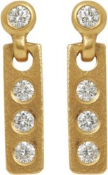 Linda Lee Johnson Women's Diamond And Gold Savannah Drop Earrings No Color