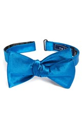 The Tie Bar Men's Solid Silk Bow Serene Blue