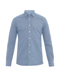 Glanshirt Kent Fil A Fil Cotton Shirt