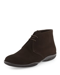 Prada Suede Sport Sole Chukka Brown