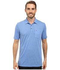 Travis Mathew Huban Polo Nautical Blue Angel Falls Men's Clothing