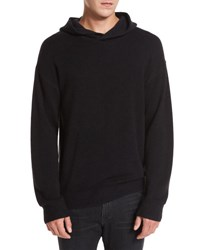Vince Wool Cashmere Pullover Hoodie Olive