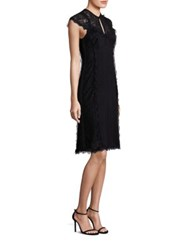 Nanette Lepore Lace Applique Empire Waist Dress Black