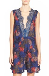 Women's Free People 'So You Say' Lace Trim Floral Chemise