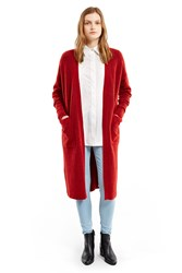Edition10 Knitted Long Cardigan Jester Red