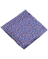 Club Room Pine Paisley Pocket Square Only At Macy's Navy Red