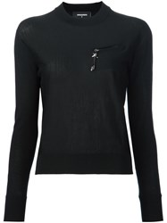 Dsquared2 'Barb Wire' Pullover Jumper Black