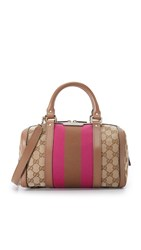 Wgaca Gucci Small Boston Canvas Bag Previously Owned