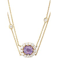 Renee Lewis Women's Diamond And Pink Sapphire Flower Pendant Necklace No Color