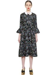 Vivetta Floral Printed Cotton Poplin Dress