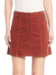 Joie Tilda Corduroy Mini Skirt Rust