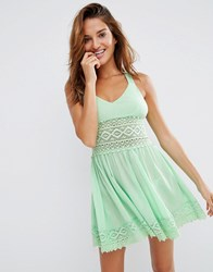 Asos Lace Trim Panel Beach Sundress Mint Green