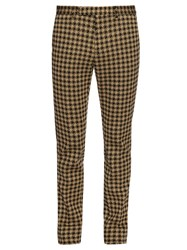 Gucci Hound's Tooth Skinny Fit Trousers Brown Multi