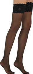 Wolford Satin Touch Thigh High Stockings Black