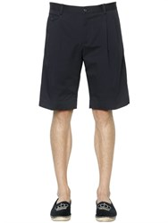 Dolce And Gabbana Stretch Cotton Gabardine Shorts