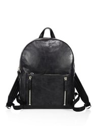 Uri Minkoff Wythe Weekender Leather Backpack Black