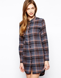 Love Checked Shirt Dress Multi