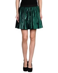 Follow Me Mini Skirts Emerald Green