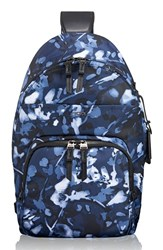 Tumi 'Nadia' Convertible Backpack Blue Indigo Floral