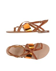 Peter Flowers Footwear Thong Sandals Women Brown