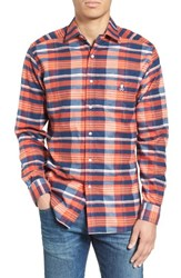 Psycho Bunny Men's Flannel Woven Shirt New Navy