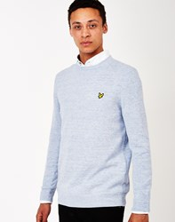 Lyle And Scott Slub Crew Neck Jumper Blue