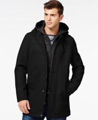 Guess Toggle Jacket With Attached Hood Black