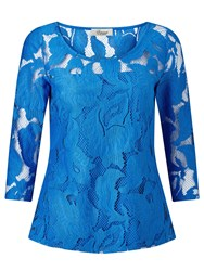 Alice By Temperley Somerset By Alice Temperley 3 4 Sleeve Lace Top Royal Blue