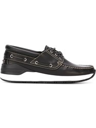 Givenchy Stylised Boat Shoes Black