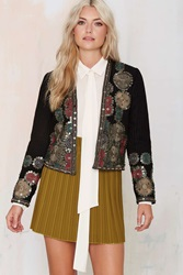 Nasty Gal Maison Scotch Whitley Embroidered Jacket