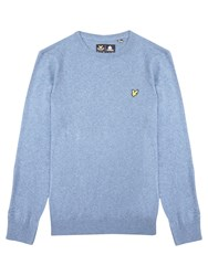 Lyle And Scott Crew Neck Jumper Niagra Blue Marl