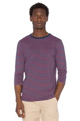 Native Youth Contrast Breton Tee Navy