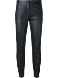 Joseph Skinny Fit Cropped Trousers Black