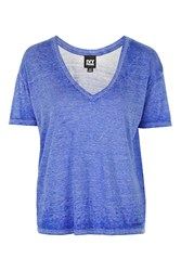 Oversized V Neck Tee By Ivy Park Washed Blue