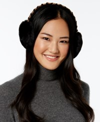 Inc International Concepts Embellished Faux Fur Earmuffs Only At Macy's Black