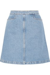Mih Jeans Decade Denim Mini Skirt Light Blue