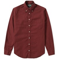 Gitman Brothers Vintage Overdyed Oxford Shirt Burgundy