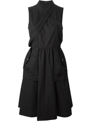Marc By Marc Jacobs Wrap Sleeveless Dress Black
