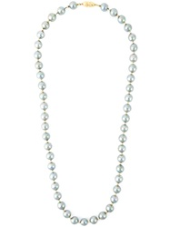 Celine Vintage Beaded Necklace Grey