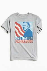 Urban Outfitters One Nation Underwood Tee Grey