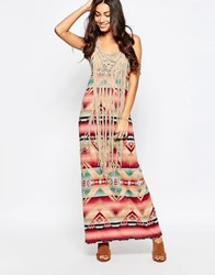 Denim And Supply Ralph Lauren Denim And Supply By Ralph Lauren Sleeveless Fringe Tank Dress Dakota Print Multi