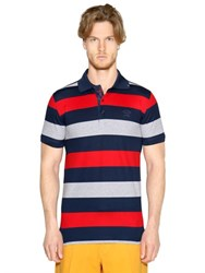Paul And Shark Striped Cotton Pique Fit Polo