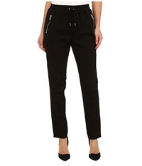Joe's Jeans Off Duty Street Zip Slim Jogger In Black Black Women's Casual Pants