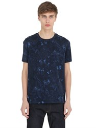 Valentino Butterfly Printed Cotton Jersey T Shirt