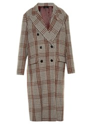 Isabel Marant Dallan Hound's Tooth Tweed Coat Multi
