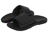 Olukai Ohana Leather Slide Black Black Men's Sandals