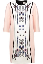 Peter Pilotto Atari Embellished Cady Dress Pastel Pink