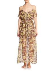 Ondademar Wild Silk Long Dress Multi